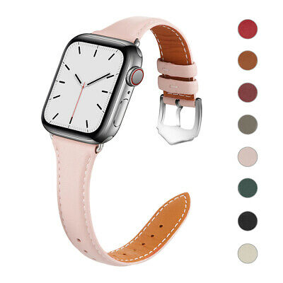 $ CDN12.31 • Buy Slim Leather Band Women Strap For Apple Watch Series 6 5 4 3 2 IWatch SE 40/44mm