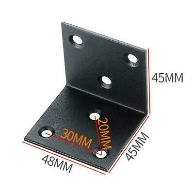 AU6.09 • Buy Steel Corner Braces L Joint 90 Degree Right Angle Black Bracket S3W3