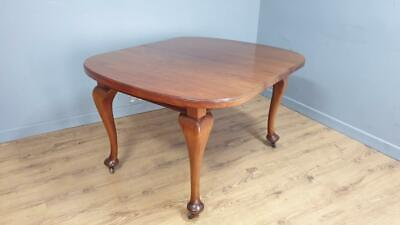 £160 • Buy Antique Mahogany Wind Out Extending Dining Table On Cabriole Legs