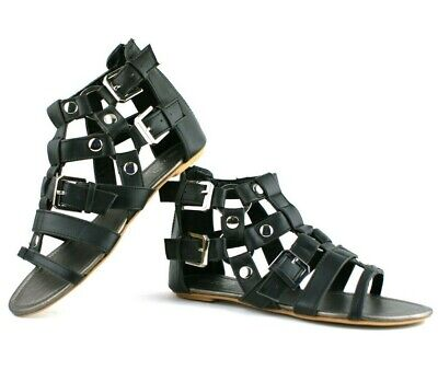 £9.99 • Buy Ladies Womens Stud Detail Cage Summer Roman Style Sandals Beach Shoes Size