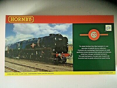 HORNBY R3824 West Country 35028 CLANLINE In BR Green - Limited Edn.of 1000, New  • 249£