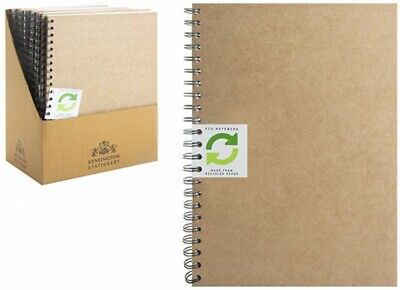 £2.99 • Buy A5/a4 Eco Spiral Lined Notebook Note Book Notes Notepad Journal Diary