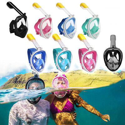 AU23.49 • Buy Anti-Fog Full Face Snorkel Mask Swimming W/ Breather Pipe Diving Scuba For GoPro