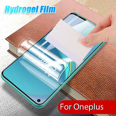 AU3.34 • Buy Clear Screen Protector For OnePlus 9 8 7T Pro Nord Ultra-Thin Soft Hydrogel Film