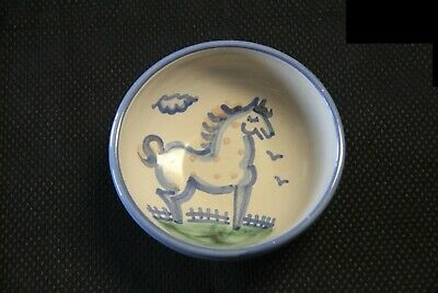 $15 • Buy M A Hadley Pottery Cereal Bowl  Horse With Pink Dots