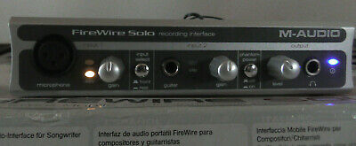 $39.95 • Buy M-AUDIO FIREWIRE SOLO RECORDING INTERFACE W/ OEM ADAPTER/ FIREWIRE CABLE IN BOX