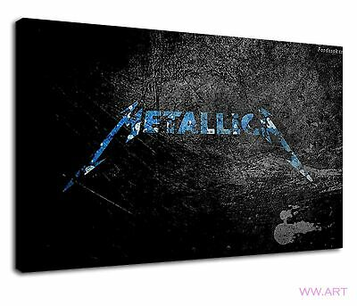 £38.99 • Buy Metallica Digital Art In Blue And Grunge Black Canvas Wall Art Picture Print