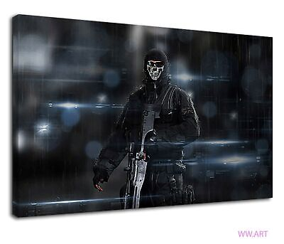 £38.99 • Buy Ghost Riley From Call Of Duty Ghost Video Game Canvas Wall Art Picture Print
