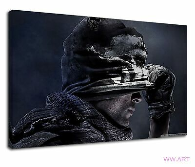 £38.99 • Buy Ghost Masked Game Player Of Call Of Duty Canvas Wall Art Picture Print
