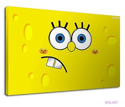 £38.99 • Buy Angry Spongebob Face Digital Art For Kids Bedroom Canvas Wall Art Picture Print