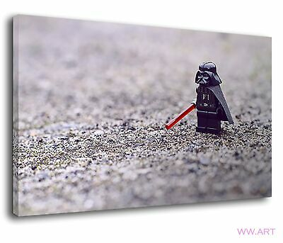 £34.99 • Buy Darth Vader Lego Character Lightsabre Star Wars Canvas Wall Art Picture Print