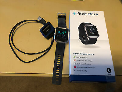 AU160.34 • Buy FitBit Blaze LARGE Stainless Steel Frame Black Band With Charger Fitness Tracker