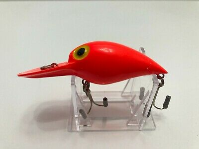 $25 • Buy #127 Pre Rapala Storm Magnum Wiggle Wart AV48 Solid Fluorescent Red