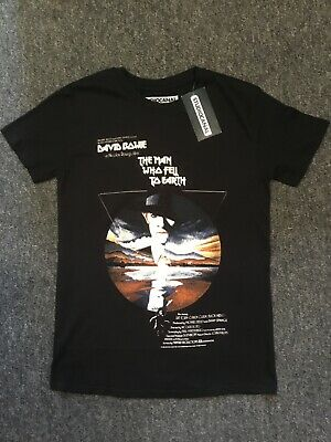 Official The Man Who Fell To Earth David Bowie Movie T Shirt Small New  • 8.99£