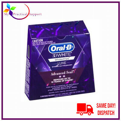AU11.10 • Buy Oral B 3D White Luxe Advance Seal Teeth Whitening Strips