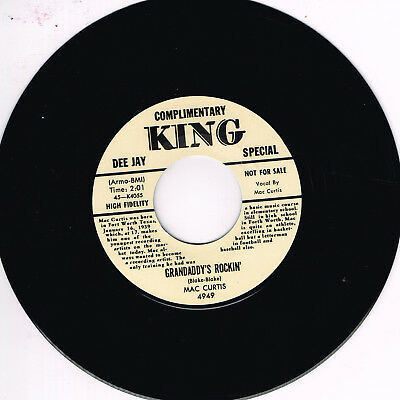 MAC CURTIS - GRANDADDY'S ROCKIN' / HALF HEARTED LOVE (Killer ROCKABILLY) REPRO • 10.99£