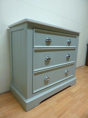 £285 • Buy New French Light Grey & Solid Marble 3 Drawer Larder Chest *Furniture Village*