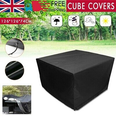 £12.99 • Buy Heavy Duty Garden Patio Furniture Table Covers For Rattan Table Cube Set Outdoor