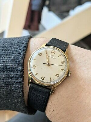 £89.99 • Buy Gents Vintage Uno Gold Filled Dress Military Style Wind Watch - Working