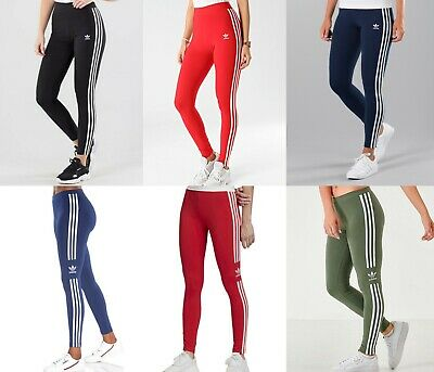 Adidas Originals Women's 3 Stripes Trefoil Leggings Size 2 4 8 12 16 20 • 19.99£