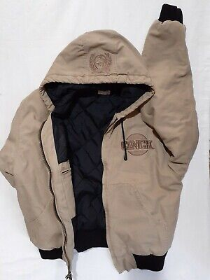 $48.88 • Buy Cinch Logo Quilt Lined Hooded Embroidered Jacket Men's Sz Large Free Shipping