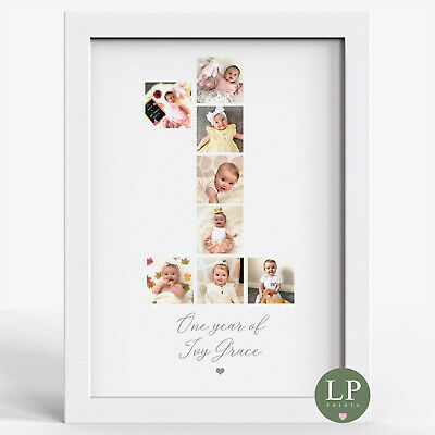 £14.99 • Buy Personalised Photo Baby's First Birthday Gift One Year Old Baby Present
