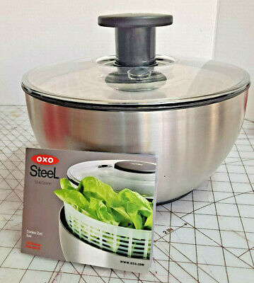 £26.20 • Buy OxO Stainless Steel Salad Bowl Spinner Vegetable Large Push Button Good Grip