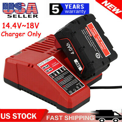 $26.95 • Buy For Milwaukee M18 18V Li-Ion Lithium Battery Charger Replacement Rapid Charge