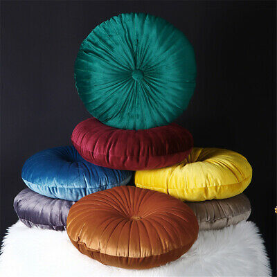 Pumpkin Round Velvet Cushion Seat Home Decor Couch Pillow Floor Cushion Art UK • 7.39£