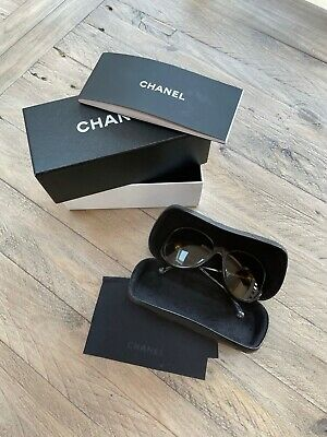 £200 • Buy Genuine CHANEL Pearl Polarized Brown Sunglasses With Box & Case RRP £417