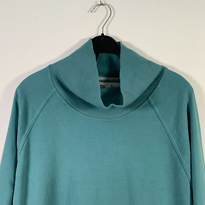 C9 Champion Activewear Blue Roll Neck Long Sleeve Top Pockets - Womens XL • 8.95£