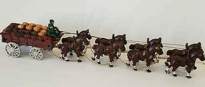 $ CDN90.69 • Buy Antique Cast Iron Busch Budweiser Beer Wagon And Clydesdale Team