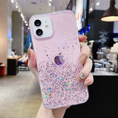 AU5.99 • Buy Glitter Case For IPhone 12 11 Pro Max 7 8 6s SE2 XR XS Hybrid Rubber Case Cover