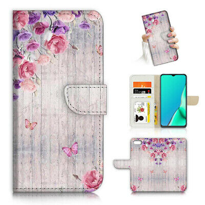 AU12.99 • Buy ( For Oppo A57 ) Wallet Flip Case Cover PB24259 Butterfly Flower