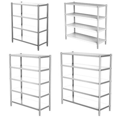 £125.95 • Buy Commercial Kitchen Shelf Unit Stainless Steel Storage Rack Catering Shelving UK