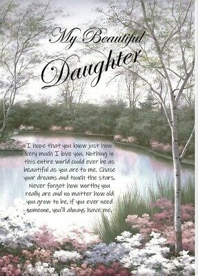 £3.99 • Buy NEW 'My Beautiful Daughter' -  A5 Card For Her Birthday Love Keepsake