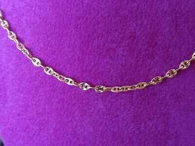 £63 • Buy 9K Yellow Gold, Mariners Necklace, 18 Inches, 2.2 Grams, Stamped 375
