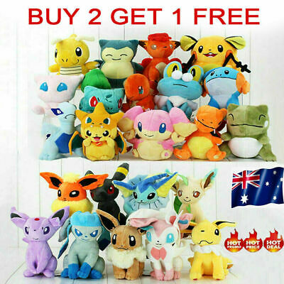 AU12.99 • Buy Rare Pokemon Collectible Plush Doll Character Soft Toy Stuffed Teddy Best Gifts