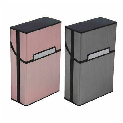 Metal Cigarette Case Aluminum Tobacco Holder Storage Container Box • 2.46£