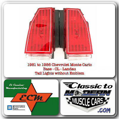 $210 • Buy 81-86 Chevy Monte Carlo Base, CL & Landau Tail Light / Red Lenses Without Emblem