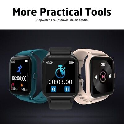AU28.59 • Buy Blackview Smart Watch R3 Pro Fitness Tracker Heart Rate Monitor For Android IOS