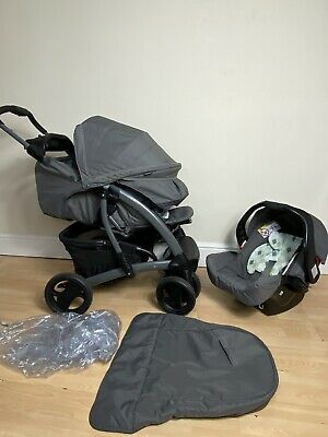 £100 • Buy Graco Quattro Tour Deluxe Travel System In Diamonds Pushchair Stroller Carseat