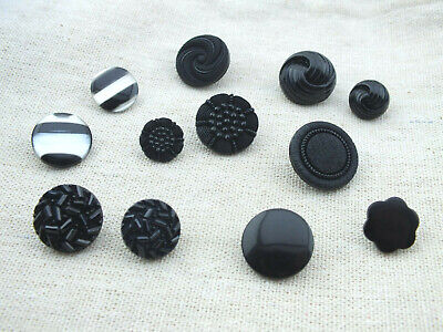 £2 • Buy Buttons, Black Shank Back, 12mm To 25mm