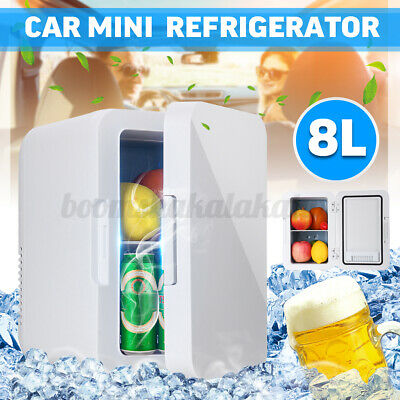 AU100.74 • Buy 8L Mini Fridge Car Home Bar Freezer Drinks Beer Cooler Ice Cosmetics Portable