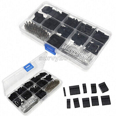 AU9.16 • Buy 620PCS 2.54mm Dupont Crimp Pin Connector Header Jumper Wire Terminal Housing Kit
