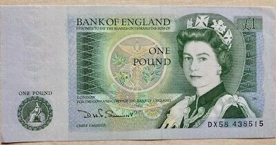 Bank Of England Pound Note - In Very Good Condition • 1.50£