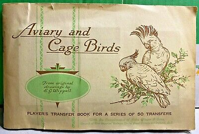 £34.99 • Buy Aviary And Cage Birds-1933-Player's Transfer Book-John Player & Sons-Completed