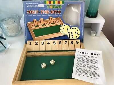 £8 • Buy Shut The Box Wooden Dice Game Vintage - 2 Player