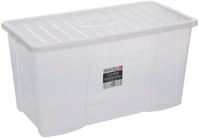 £8.99 • Buy Quality Plastic Storage Boxes With Lids Home Office Stackable Clear Box UK
