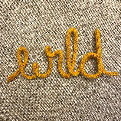£6.50 • Buy Knitted Wire Word Wild Jungle Nursery Baby Home Wall Sign